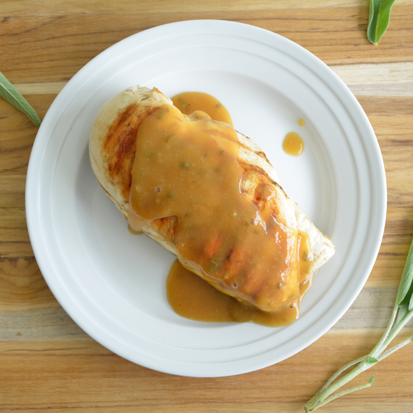 Apple cider and sage chicken gravy